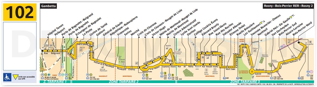 Plan bus Ligne 102