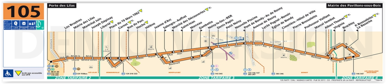 Bus 105 Horaires Et Plan Ligne 105 Paris