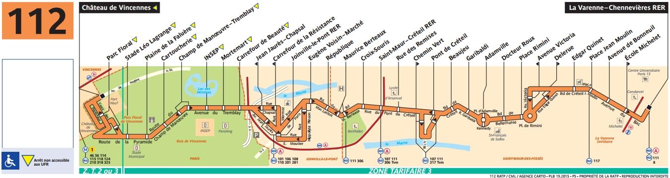 Plan bus Ligne 112