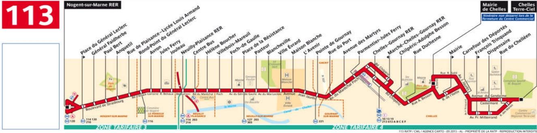 Plan bus Ligne 113