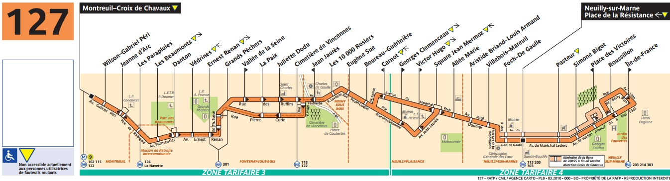 Plan bus Ligne 127
