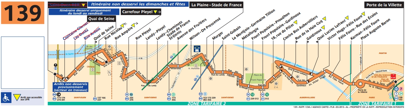 Bus 139 horaires et plan ligne 139 paris for Salon a porte de la villette