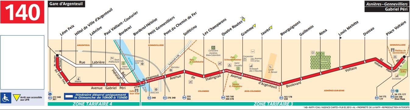 Plan bus Ligne 140