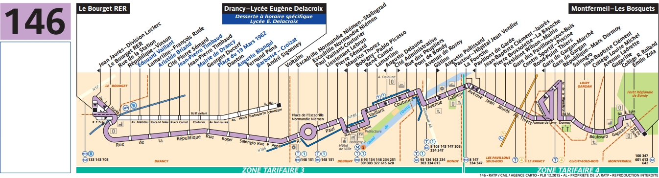 Plan bus Ligne 146