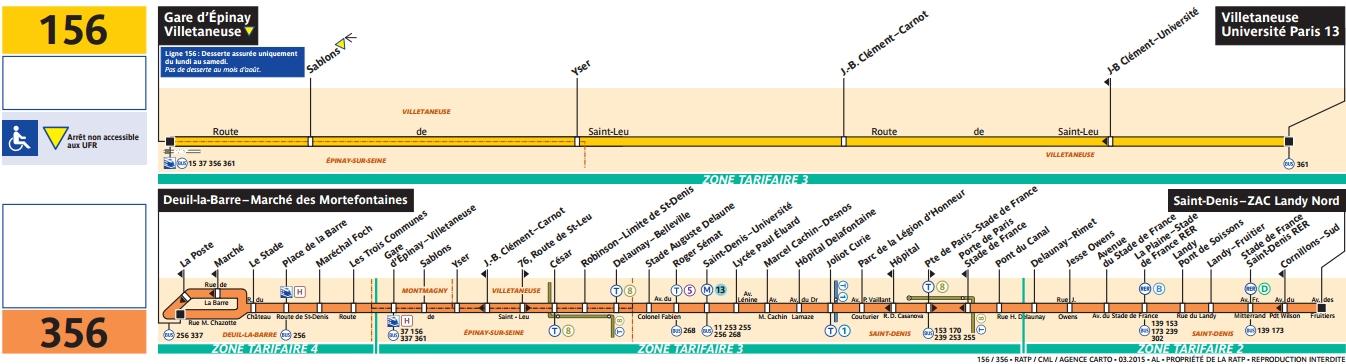 Plan bus Ligne 156