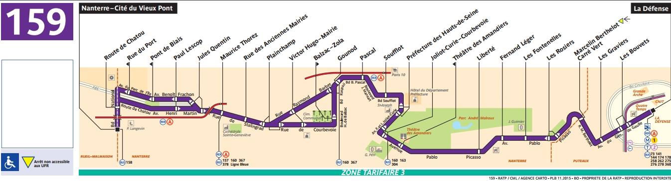 Plan bus Ligne 159