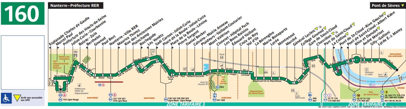 Plan bus Ligne 160