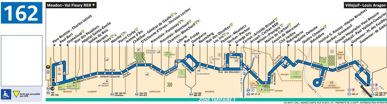 Bus 162 horaires et plan ligne 162 paris for 162 plan