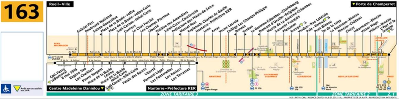 Bus 163 horaires et plan ligne 163 paris for Salon porte de champerret horaires