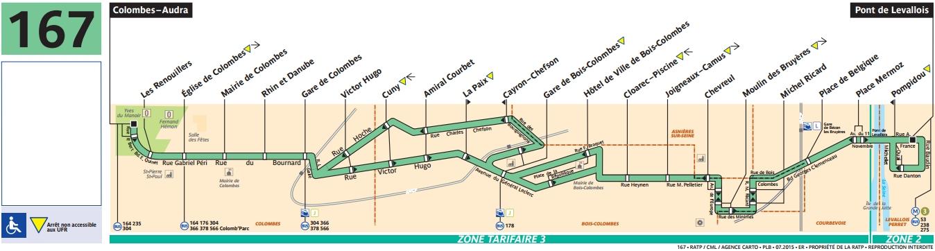 Plan bus Ligne 167