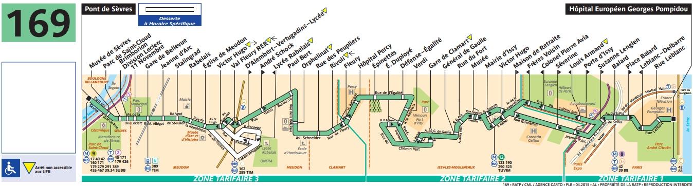 Plan bus Ligne 169