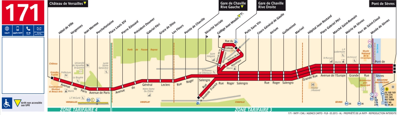 Plan bus Ligne 171