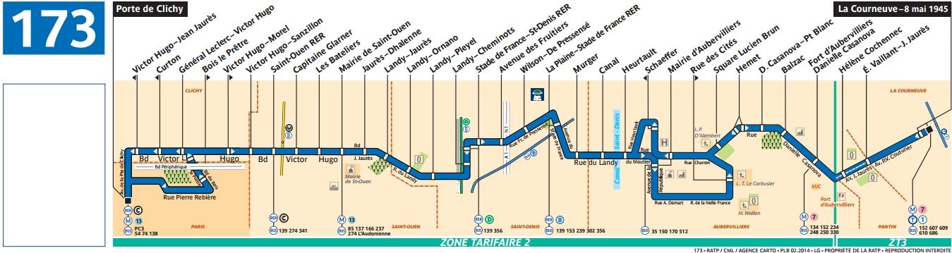 Plan bus Ligne 173