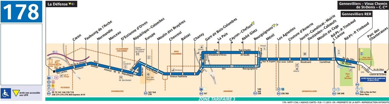 Plan bus Ligne 178