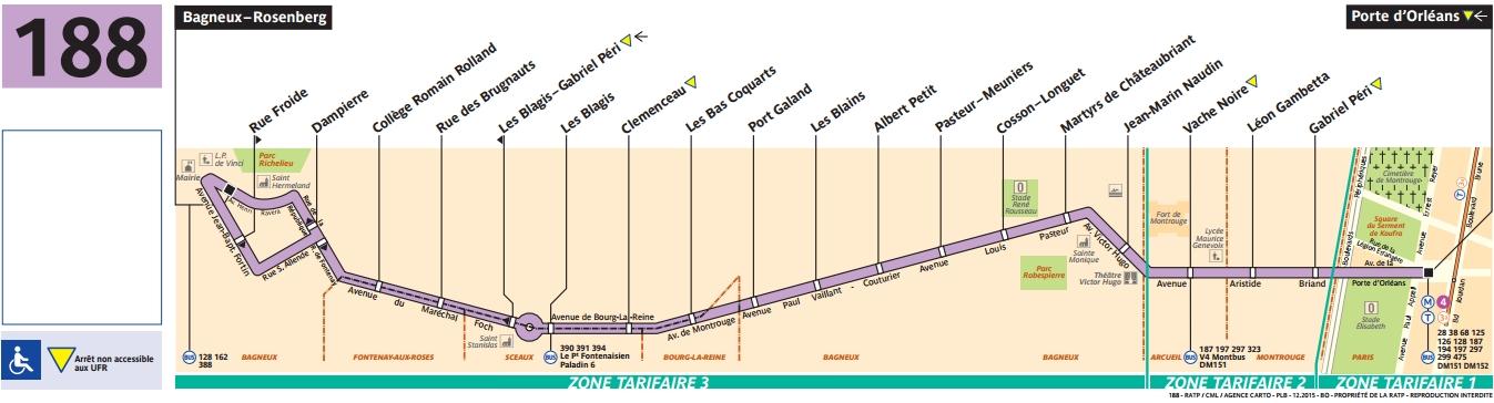 Bus 188 horaires et plan ligne 188 paris - Lidl porte d orleans horaires ...