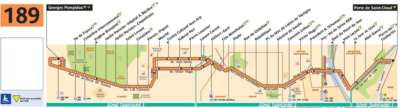 Plan bus Ligne 189