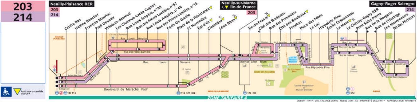 Plan bus Ligne 203