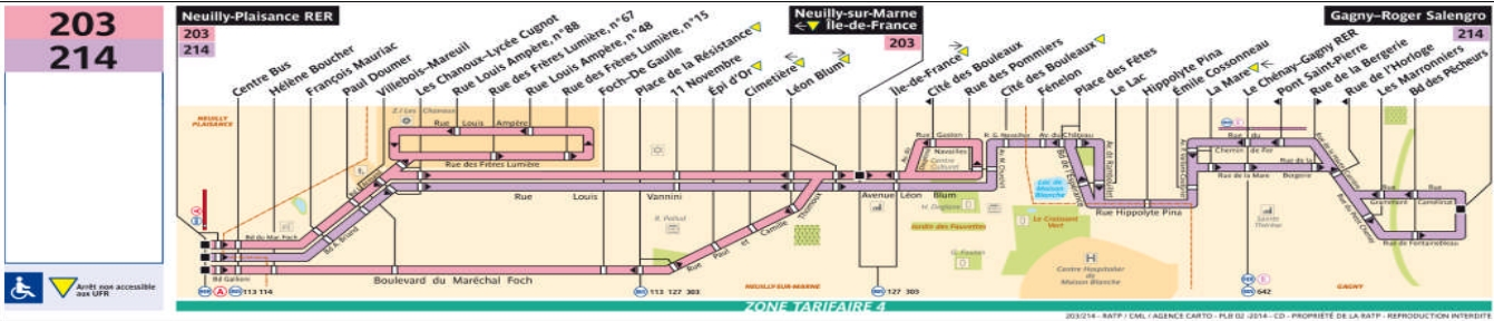 Plan bus Ligne 214