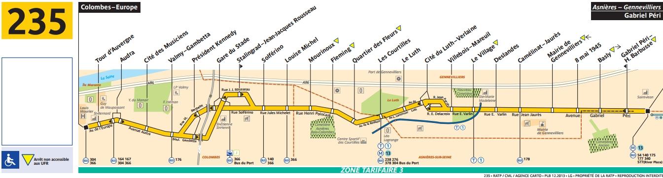 Plan bus Ligne 235