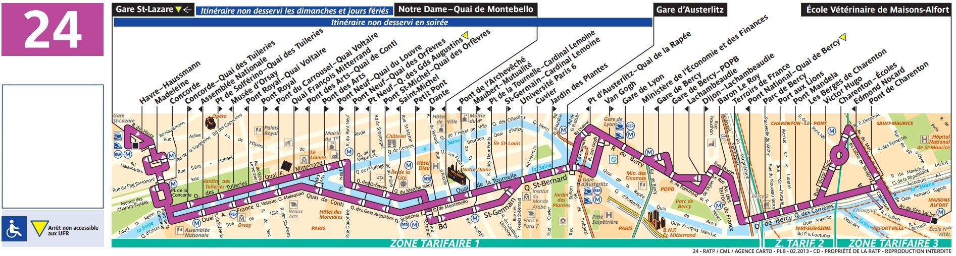 Plan bus Ligne 24