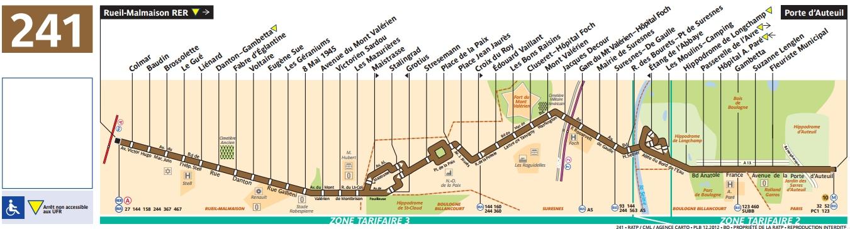 Plan bus Ligne 241