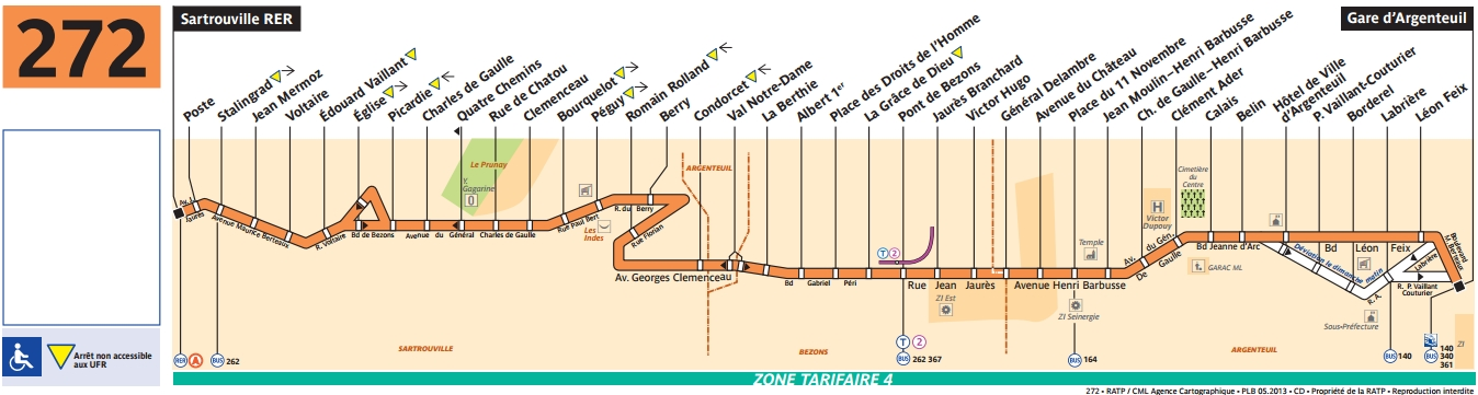 Plan bus Ligne 272