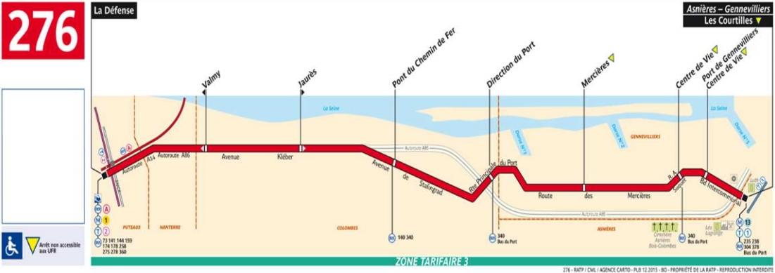 Plan bus Ligne 276