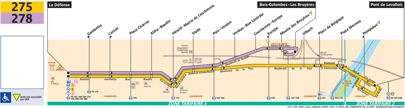 Plan bus Ligne 278