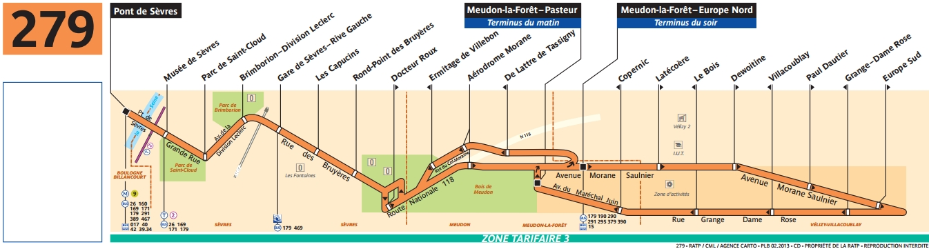 Plan bus Ligne 279