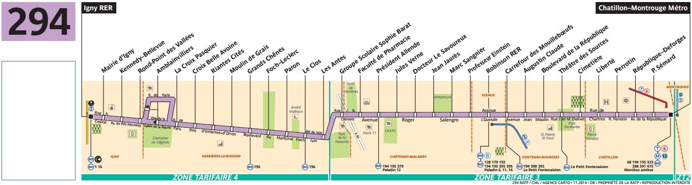Plan bus Ligne 294