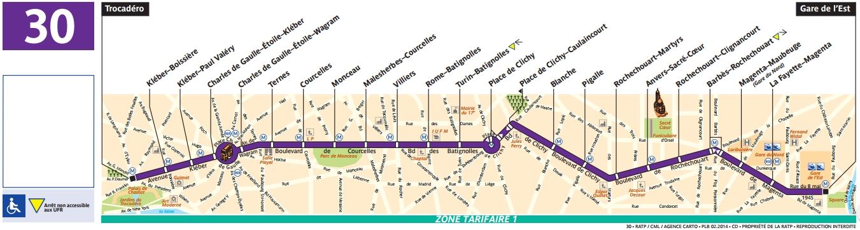 Plan bus Ligne 30