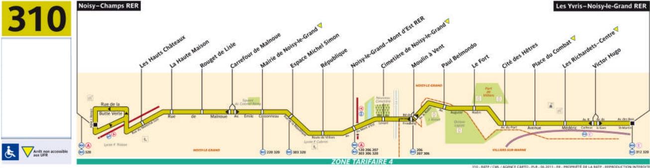 Plan bus Ligne 310