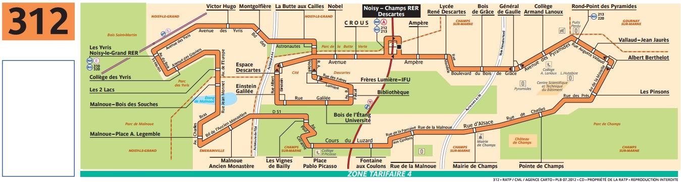 Plan bus Ligne 312