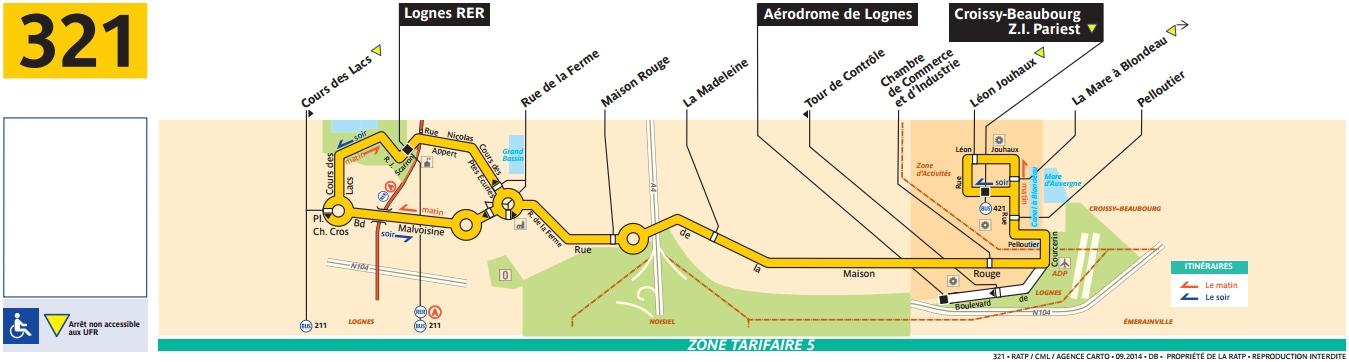 Plan bus Ligne 321