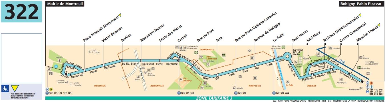 Plan bus Ligne 322