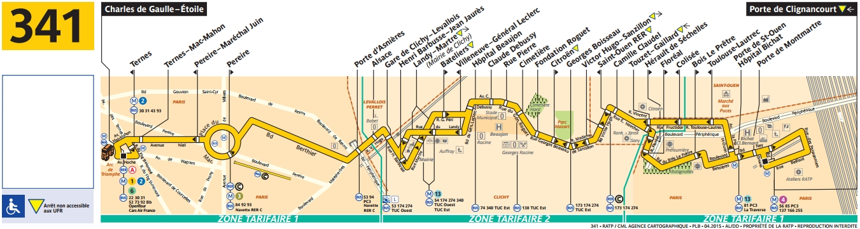 Plan bus Ligne 341