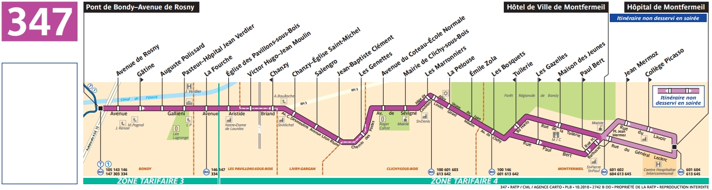 Plan bus Ligne 347