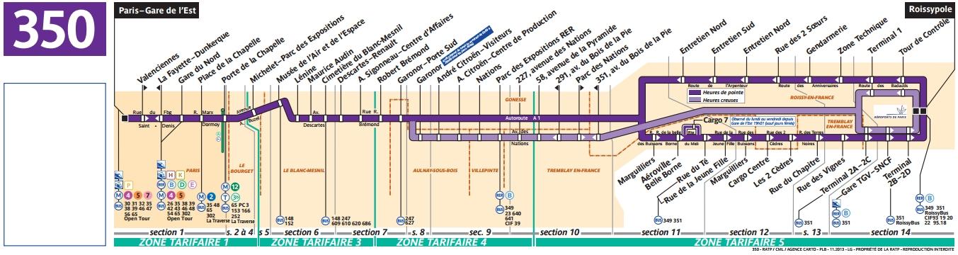 Plan bus Ligne 350