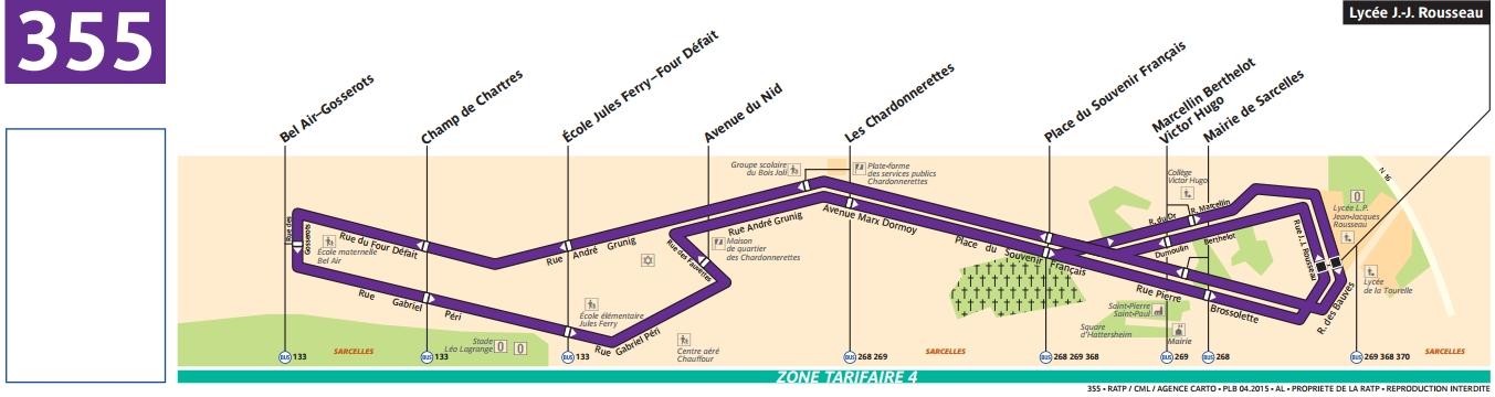 Plan bus Ligne 355