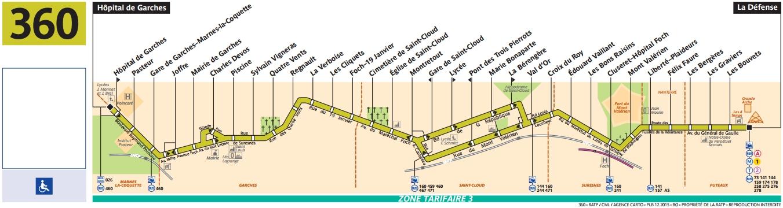 Bus 360 horaires et plan ligne 360 paris for Plan 360