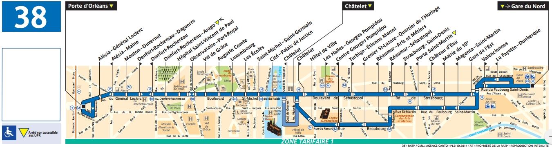 Plan bus Ligne 38