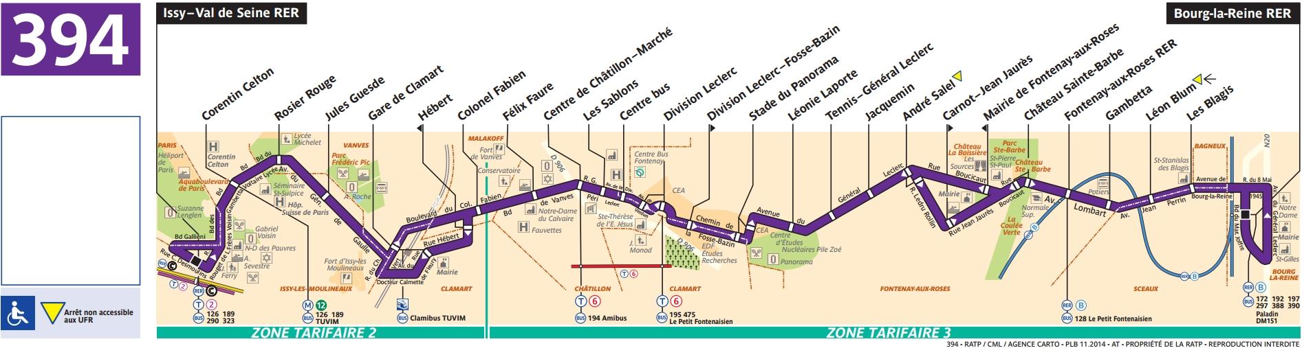 Plan bus Ligne 394