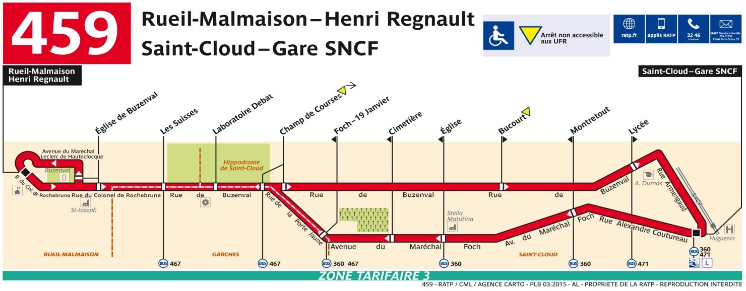 Plan bus Ligne 459