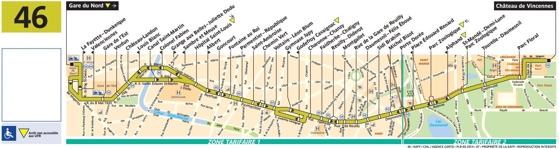 Plan bus Ligne 46