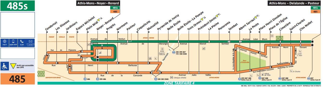 Plan bus Ligne 485