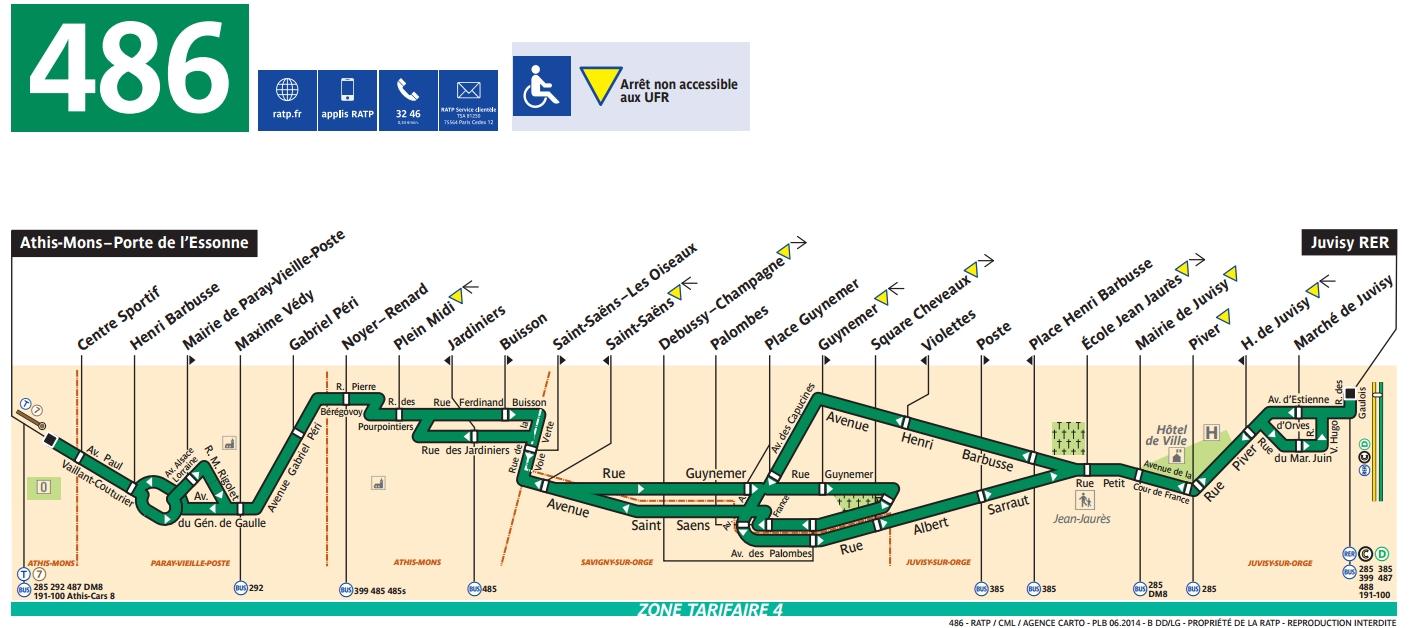 Plan bus Ligne 486