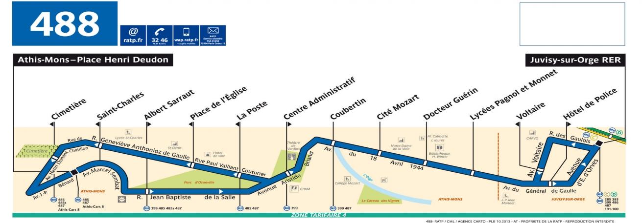 Plan bus Ligne 488