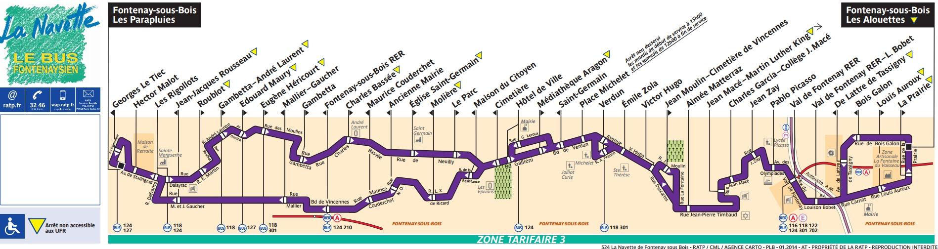 Plan bus Ligne 524