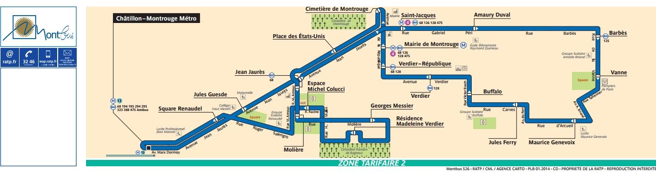 Plan bus Ligne 526