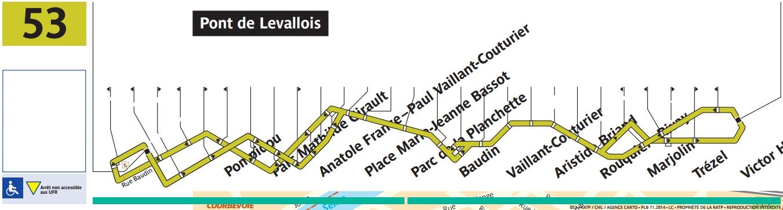 Plan bus Ligne 53